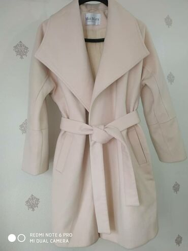 Пальто Деми🍂 под MaxMara✔️ цвет- айвори/пудра ✔️ размер 42-46, длина