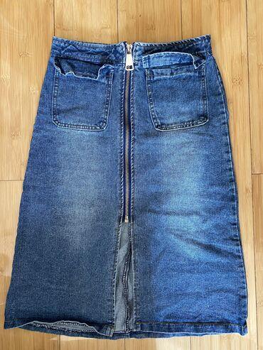 Джинсовая юбка  Турция  размер С 500с  Сост огонь ! цена окончательн