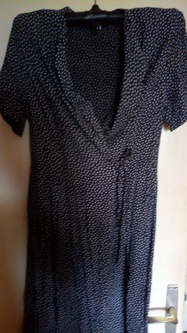 Crno bela,pamucna haljina na preklop..nova..br 42. - Kraljevo