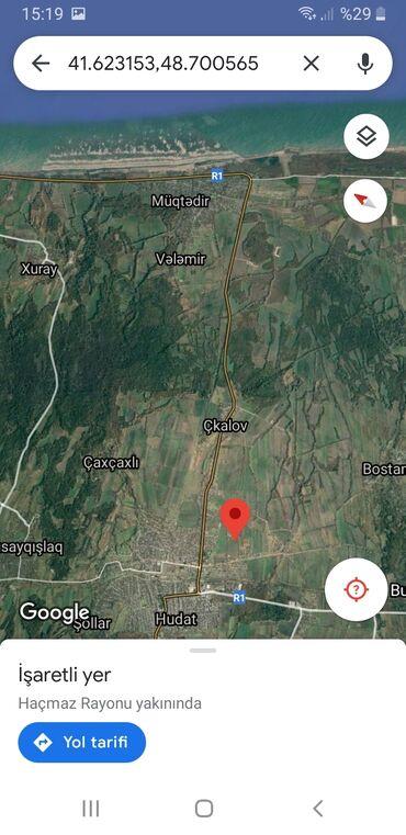 Daşınmaz əmlak - Xudat: Torpaq sahələrinin satışı 8 sot Tikinti, Mülkiyyətçi, Kupça (Çıxarış)