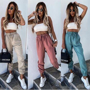 Pantalone NOVO!*Nova Kolekcija * Dostupne boje : roze, bež