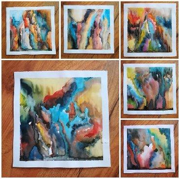 Slike | Beograd: MINIJATURE  Tehnika : Akvarel Dimenzije originala :15x15cm Akademski u