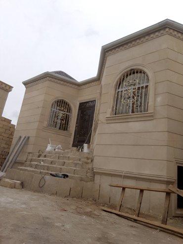 Bakı şəhərində Bineqedi qesebesinde 2 sotda tikilen  100 kv  3 otaqli ev  1 sot
