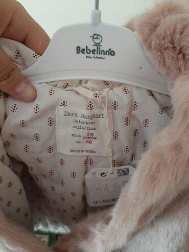 Шуба новая детская Zara размер подошёл 0-6 месяцев