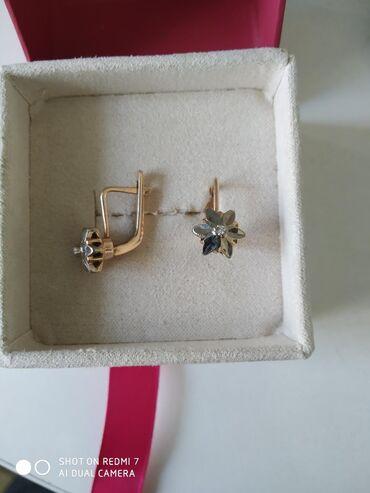 Серьги с бриллиантами СССР 583 пробы, Ереван номерные