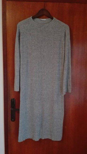 Zara duga siva haljina, m velicina. Duzina 111cm,sirina je 43cm,sirina - Novi Sad