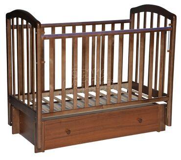 Другие кровати - Кыргызстан: Детская кровать с матрасом в отличном состоянии, внизу есть полка для