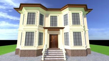 дома из сруба под ключ в Кыргызстан: Эскизный проект.  Делаю проект домов,не дорого