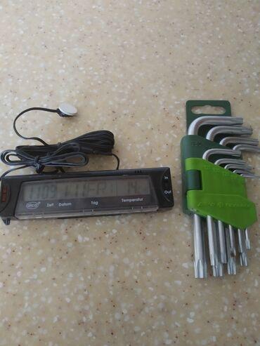 электронные термометры в Кыргызстан: Авто часы с электронным термометром+ набор ключей звёздочек отдам за