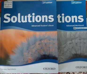 "Книги, журналы, CD, DVD - Кыргызстан: ""solutions"", новые. 2 книги с диском. ""new english file"" за 2"