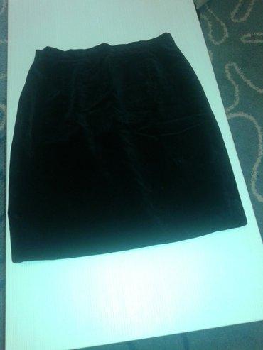 Crna plisana suknja,postavljena,duzina 56cm,obim struka 80,kukovi - Valjevo