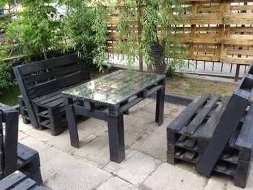 Очень срочно!!! Продаю комплект из стола и двух сидушек сделанные из