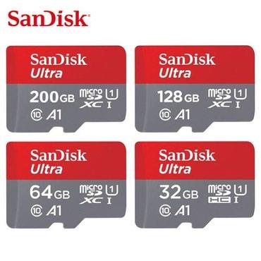 Bakı şəhərində Sandisk Micro SD Class 10 Всё 100% Оригинал!!! 16 GB 80 mb/s
