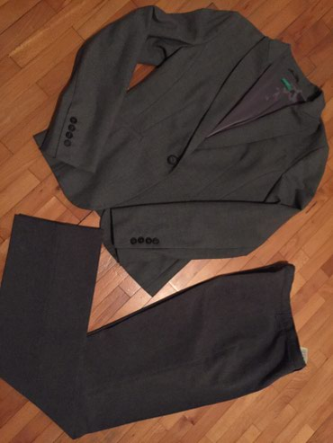 Krem-sako-benetton - Srbija: Benetton sako i elegantne pantalone. Nije komplet, ali je sličnih boja