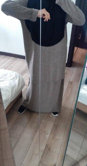 хиджаб женский в Кыргызстан: Двойка (хиджаб) из тонкого мягкого трикотажа, размер 42/48. на рост до