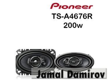 monitor pioneer - Azərbaycan: Pioneer Dinamiklər TS-A4676R 200watt.  Динамики Pioneer TS-A4676R 200w