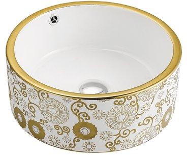керамическая раковина для ванной mln-a028-c размеры: 415х415х165 в Бишкек
