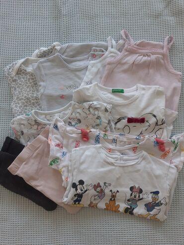 Bunde - Srbija: Pantalone, helanke, 3 majice dugih rukava, 3 bodica dugih rukava, 1