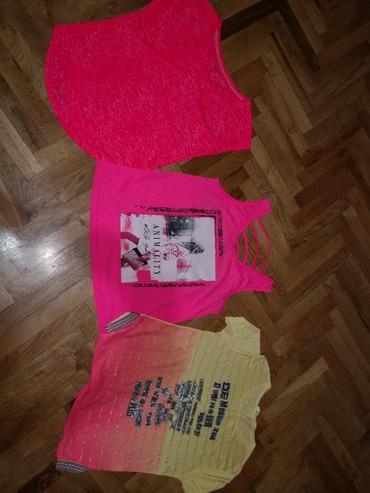 I tri majice - Srbija: Tri nove ne koriscene majice u drecavim bojama, velicina s-m, sve tri