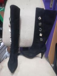 Ženska obuća | Smederevska Palanka: Barbara Bucci Italijanske Čizme od mekane i tanke kože. Štikla 8cm