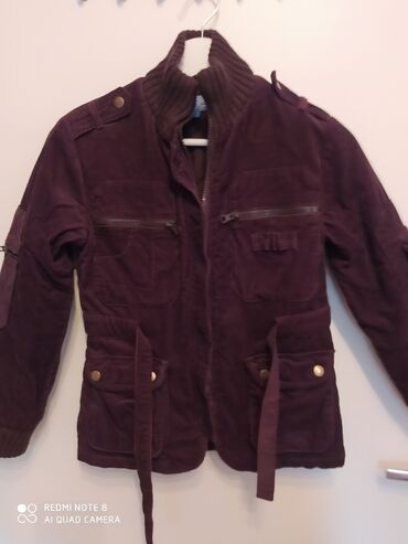 Ruska kapa - Srbija: Somotna jakna 10,zimska debela sa kaišem,štrikana kragna,štrikano oko