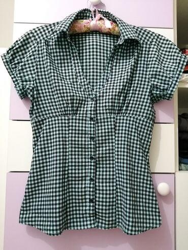 Karirana košuljica - vel. M!   Plavo-crna karirana košuljica kratkih r