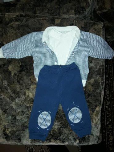 Детский костюм тройка, до 5-ти месяцев (68). цена 350 в Бишкек
