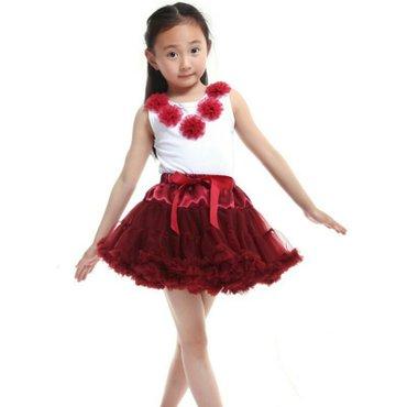 Детская красивая, пышная туту юбка на возраст от 1-3л. Была надета 1р  в Бишкек