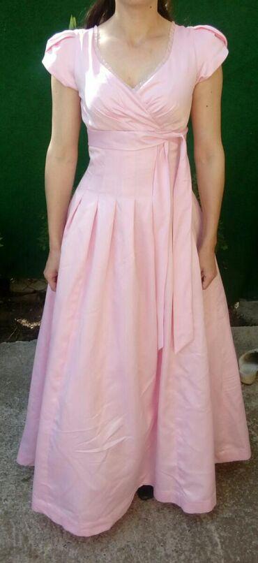 Venčanice - Srbija: Vencanica prelepa baby roza boja sa blagim sljokicama