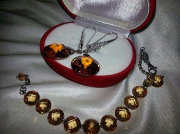 """комплект серебро-серьги и браслет """"опал"""",""""феониты""""(можно раздельно) в Бишкек"""