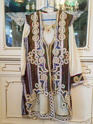 платье со штанами узбекские в Кыргызстан: Продаю узбекский наряд!Одевала 2-3 разаРазмер 46В комплекте платье со