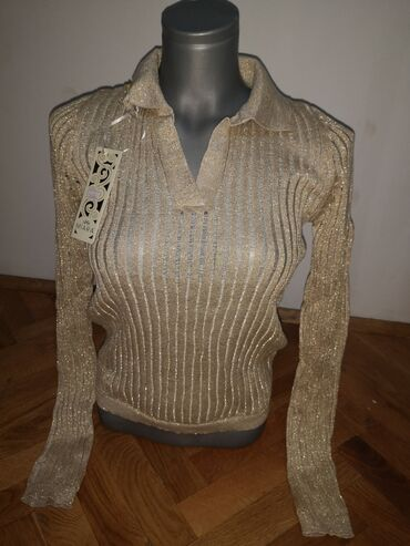 Zlatna bluzica nova ne korišćena, velicina s, prelepa