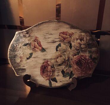 Панно на подставке «Розы», винтаж, размер 25*19 см