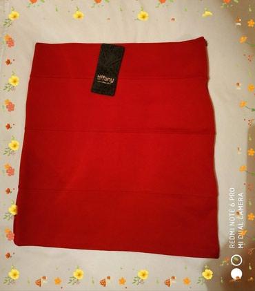 юбки из плотного трикотажа в Кыргызстан: Красная мини юбка, трикотаж, размер 36-38