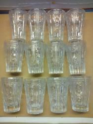 Стеклянные стаканы - Кыргызстан: Хрустальные стаканы,СССР.,12 штук