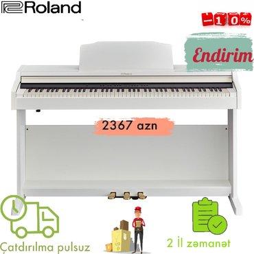 Roland elektro piano. 10% endirimler davam edir.Aletlere resmi