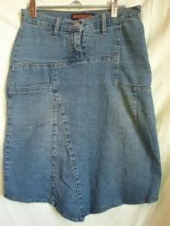 Юбка джинсовая, стречевая. S размер. С ассиметричным подолом. Очень