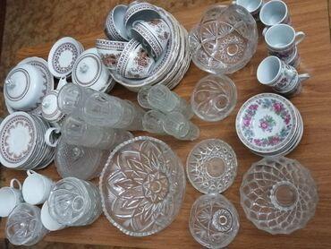 Фужеры - Кыргызстан: Посуда, сеть новые наборы фужеров, салатницы. Вазу и креманки забрали