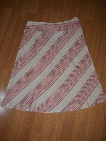Suknja-hm-pamuk-elastin-cm-struk - Srbija: SNIZENJEEEEE. Suknja,100 % lan,duz.65 cm,struk 40 cm