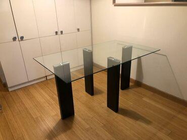 Podmetaci zacase kom - Srbija: Stakleni moderan sto. Dimenzije 150x90. Lekino brdo