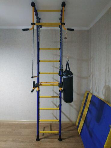 детская ебля в Кыргызстан: Детский спортивный уголок (шведская стенка, брусья, мат) ROMANA