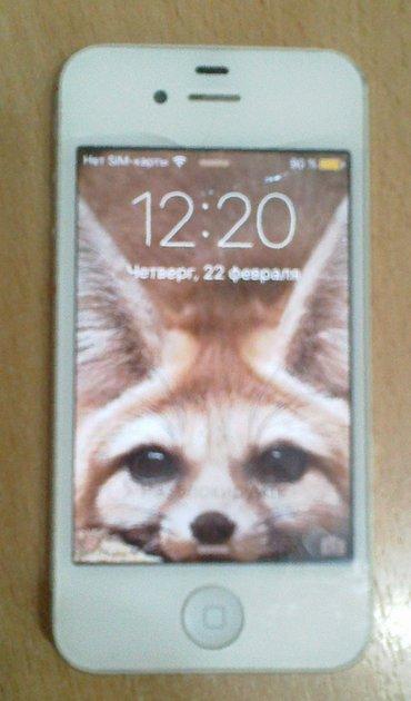 Продаем служебный  рабочий i-phone 4s 32 gb, в Бишкек