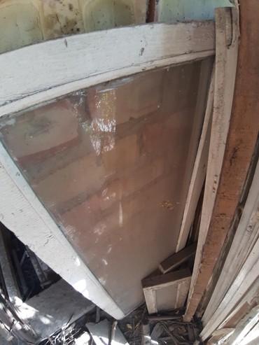 Окна деревянные - Кыргызстан: Продаю бу окна деревянные со стеклами