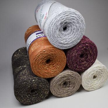 Шнур для вязания и макраме Macaroni Star с глиттером80% хлопок, 20%