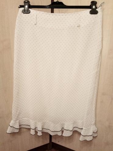 юбка солнце из кожи в Кыргызстан: Продается новая юбка из крепа. На подкладке. Белая в черный горошек