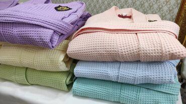 махровые халаты бишкек in Кыргызстан | ПЛАТЬЯ: Халаты вафельные чистый хлопок качество люкс после душа,бани,трениро
