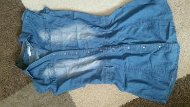 Haljine - Pirot: Teksas haljinica veličina 38. pamučna i bas jr prijatan i mekan teksas