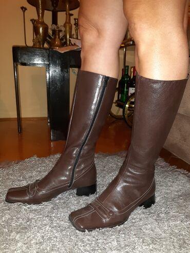 Zlatne sandalice perla br - Srbija: Čizmice od prave kože,broj 38 KAO NOVE