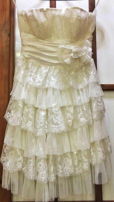 Новое вечернее платье белого цвета в Бишкек