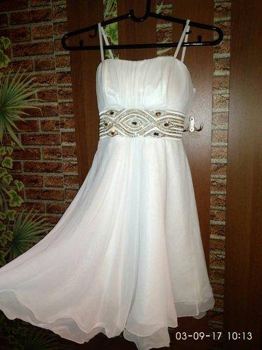 срочно продаю вечернее платье. белое с золотистыми камушками. размер в Бишкек